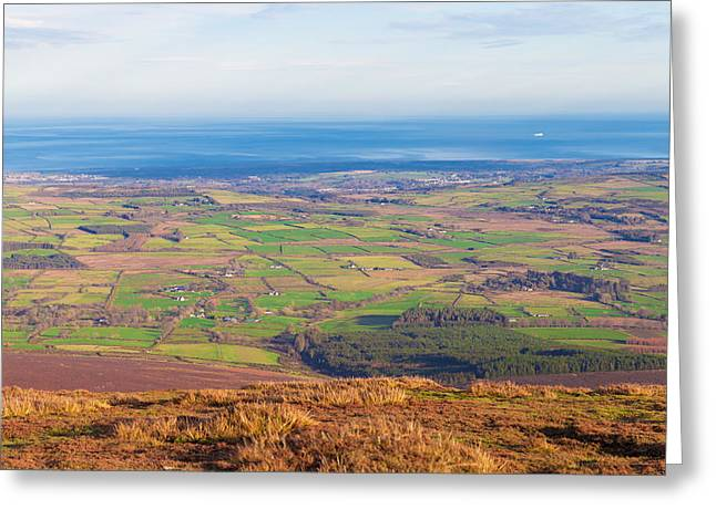 Outlook Greeting Cards - View from Djouce towards Bray and Greystones Greeting Card by Semmick Photo