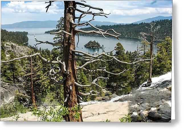 Cities Greeting Cards - View from Eagle falls of Emerald Bay Lake Tahoe Greeting Card by LeeAnn McLaneGoetz McLaneGoetzStudioLLCcom