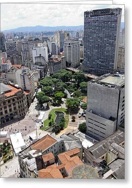 Edificios Greeting Cards - View from Edificio Martinelli 3 - Sao Pulo Greeting Card by Julie Niemela