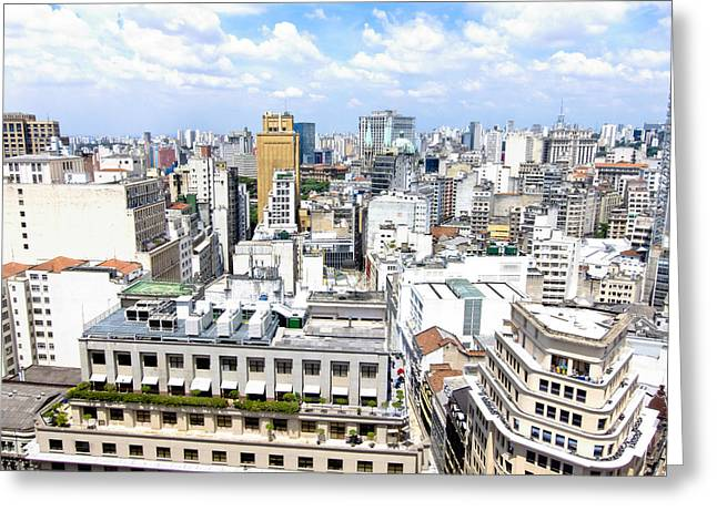 Edificios Greeting Cards - View from Edificio Martinelli - Sao Paulo Greeting Card by Julie Niemela