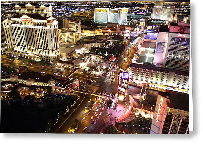 View From Eiffel Tower In Las Vegas - 01131 Greeting Card by DC Photographer