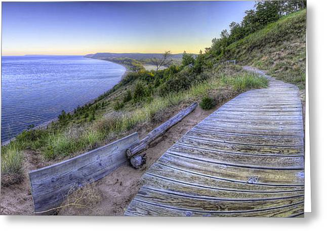 Oneida Greeting Cards - View from Empire Bluff Greeting Card by Twenty Two North Photography