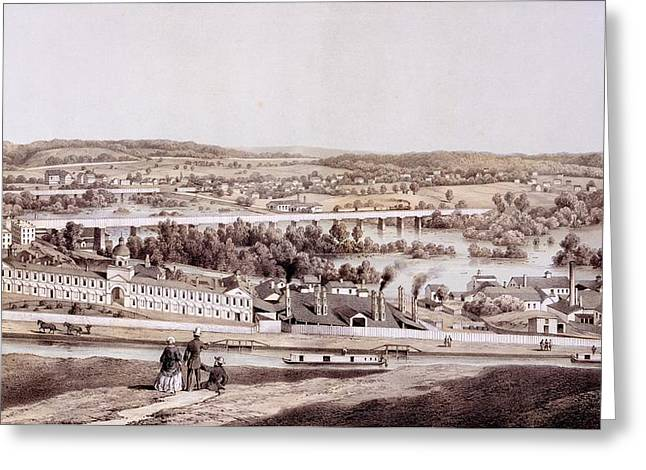 Virginia Landscape Greeting Cards - View From Gambles Hill, Richmond Greeting Card by Edward Beyer