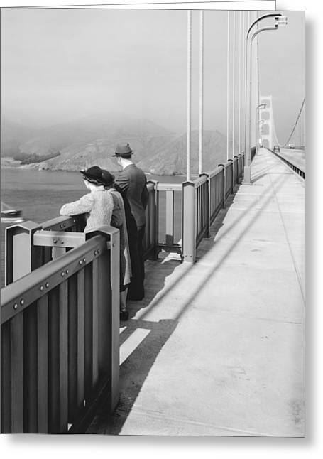 View From Golden Gate Bridge Greeting Card by Underwood Archives