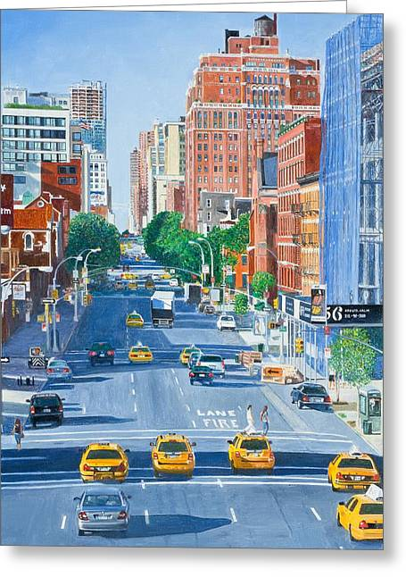 Fine Artworks Greeting Cards - View from Highline New York City Greeting Card by Anthony Butera