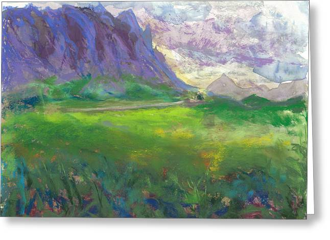 Highway Pastels Greeting Cards - View From Hoomaluhia Park Greeting Card by Jennifer Robin