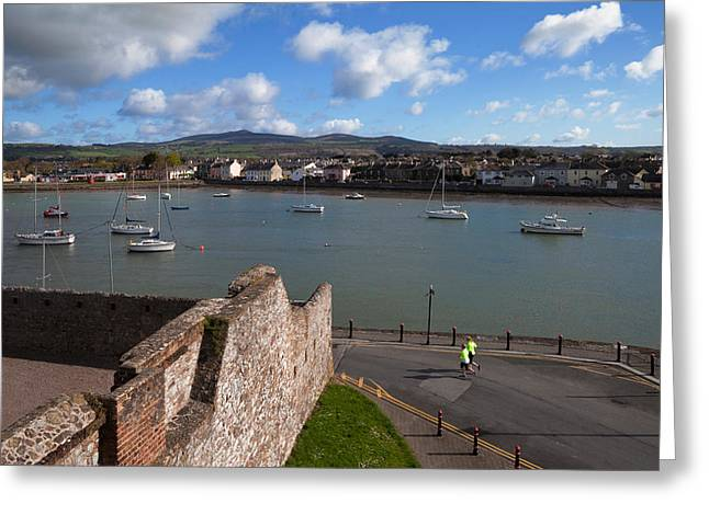 Interpretation Greeting Cards - View From King Johns Castle, Dungarvan Greeting Card by Panoramic Images