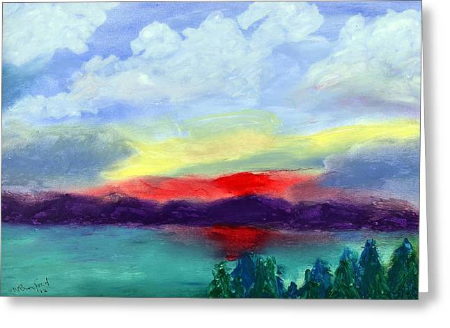Kirkland Greeting Cards - View from Kirkland Greeting Card by Wade Binford