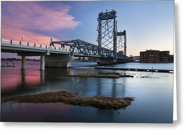 Maine Shore Greeting Cards - View From Kittery Greeting Card by Eric Gendron