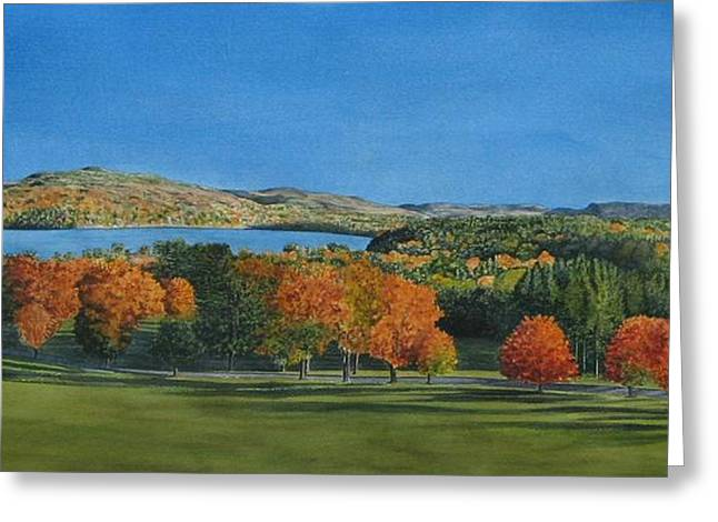 Recently Sold -  - Fall Grass Greeting Cards - View from Kripalu Greeting Card by Sharon Farber
