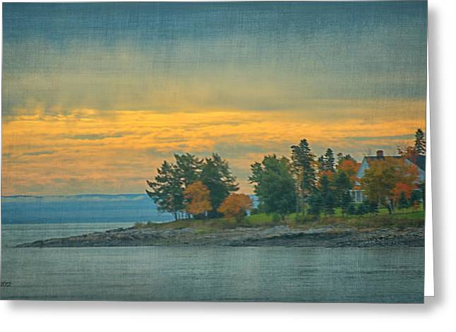 Courson Greeting Cards - View From La Malbaie Greeting Card by CR  Courson
