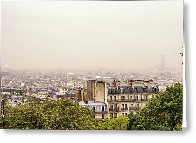 Comtemporary Art Greeting Cards - View from Montmartre Greeting Card by Nomad Art And  Design