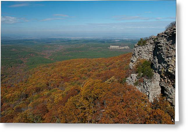 Mt Magazine Greeting Cards - View from Mount Magazine  AR - 2036  Greeting Card by Jerry Owens