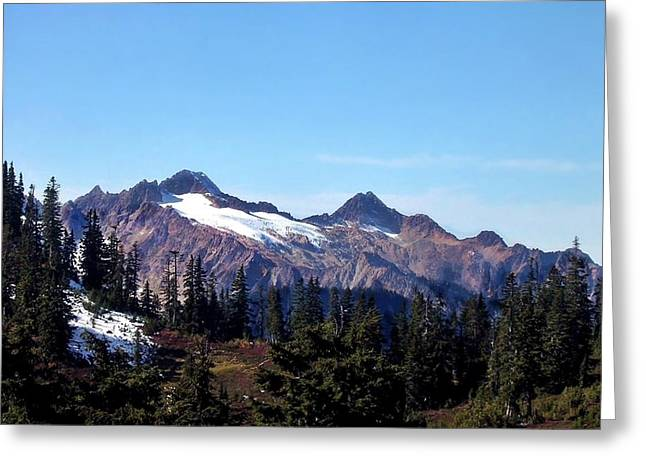 Snow-covered Landscape Greeting Cards - View from Mt Baker Greeting Card by Shawn Lacey