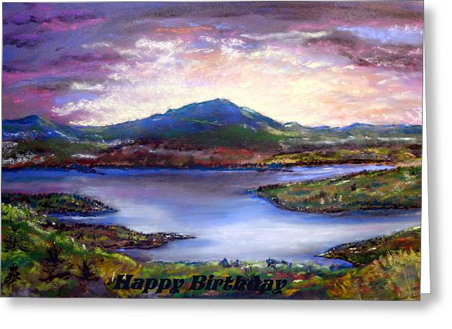Mt Pastels Greeting Cards - View from Mt Prospect Greeting Card by Jane Baribeau