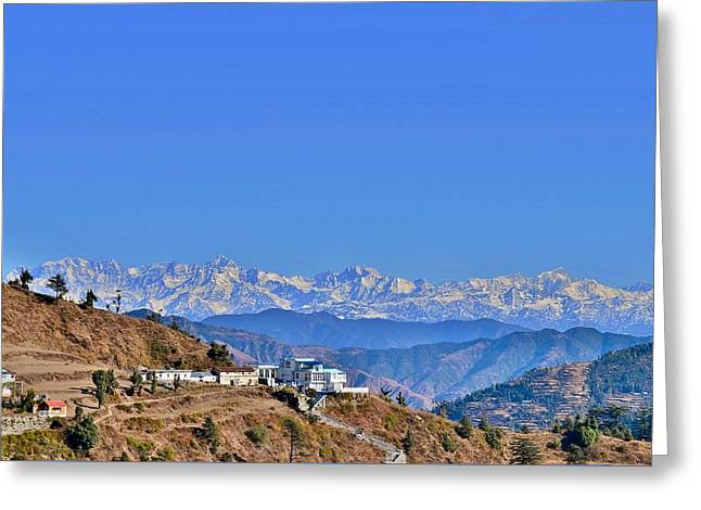 Kim Photographs Greeting Cards - View From Mussorie Road - Himalayas India Greeting Card by Kim Bemis