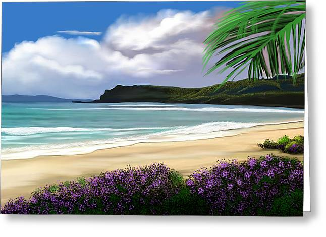 View From My Villa Greeting Card by Anthony Fishburne