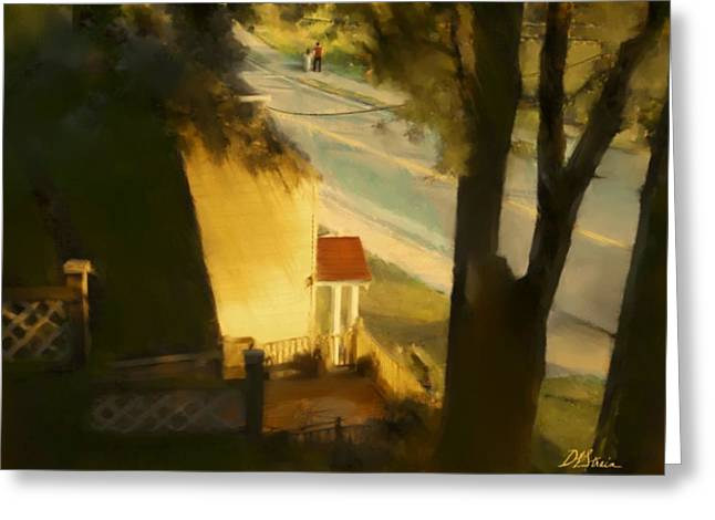 Fineartamerica Greeting Cards - View from my Window on a Summer Afternoon  B-11 Greeting Card by Diane Strain