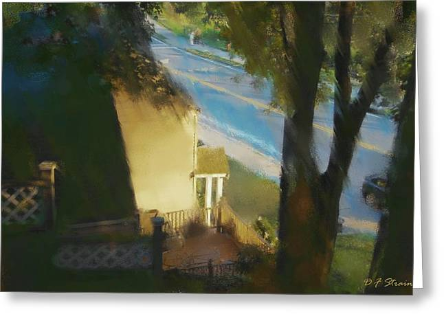 Fineartamerica Greeting Cards - View from my Window on a Summer Afternoon  B-13 Greeting Card by Diane Strain