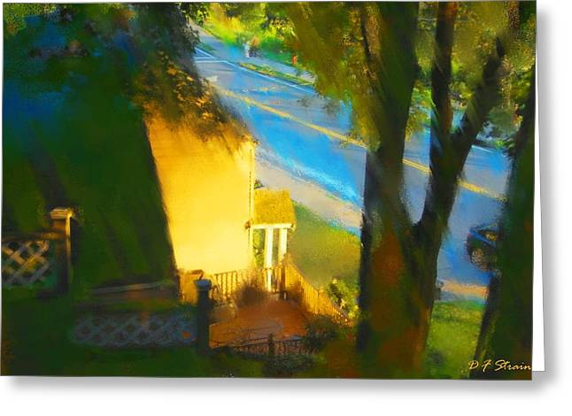 Fineartamerica Greeting Cards - View from my Window on a Summer Afternoon  B-14 Greeting Card by Diane Strain