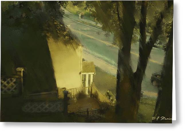 Fineartamerica Greeting Cards - View from my Window on a Summer Afternoon  B-16 Greeting Card by Diane Strain