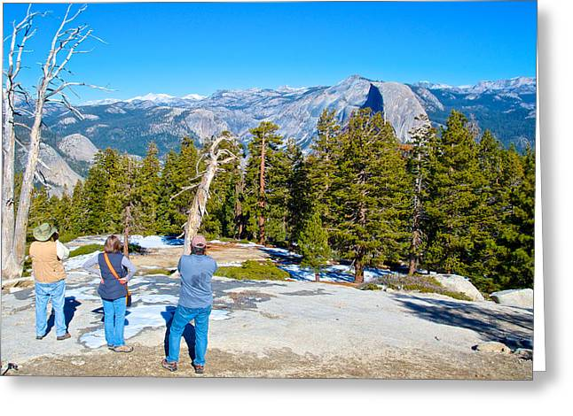 From The Dome Greeting Cards - View from Near the Top of Sentinel Dome in Yosemite NP-CA Greeting Card by Ruth Hager