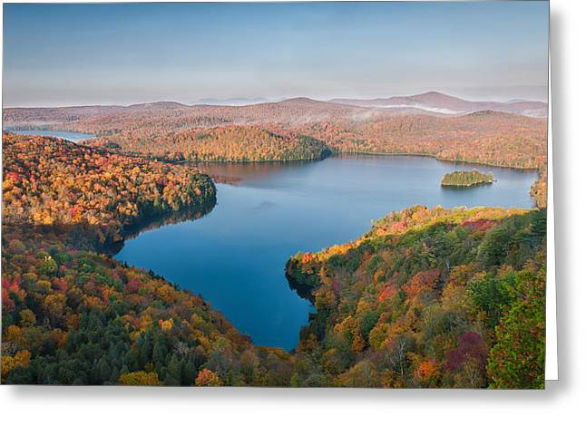 Ledge Photographs Greeting Cards - View from Nichols Ledge Greeting Card by Michael Blanchette
