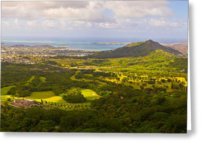 Matt Radcliffe Greeting Cards - View From Nuuanu Pali Greeting Card by Matt Radcliffe