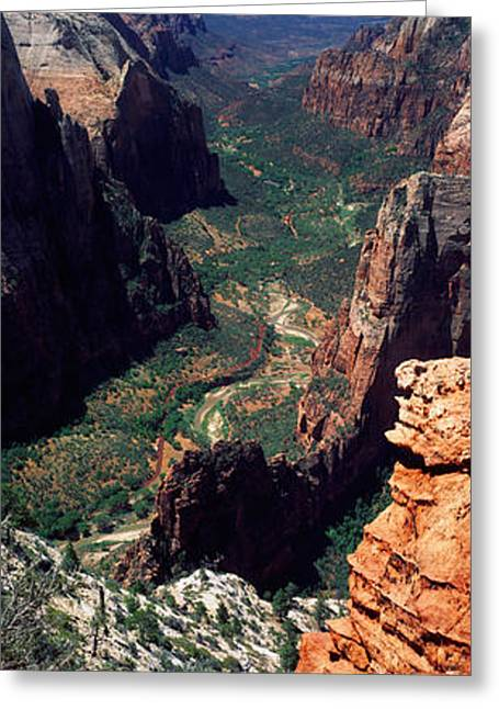 Observation Greeting Cards - View From Observation Point, Zion Greeting Card by Panoramic Images