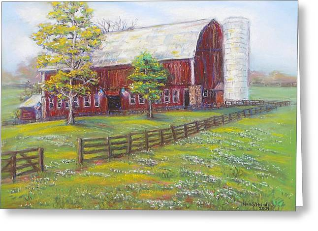 Md Paintings Greeting Cards - View From Pleasant Fields Greeting Card by Nancy Heindl