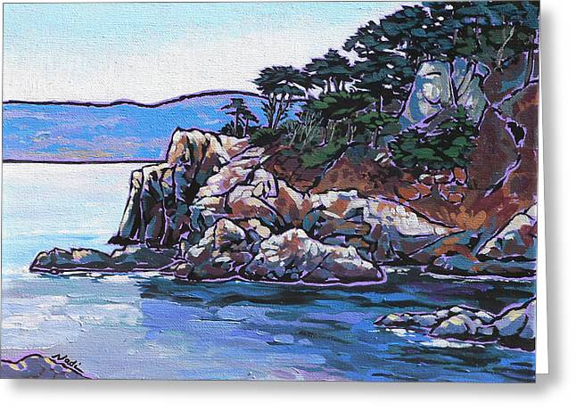 Cambria Greeting Cards - View from Point Lobos Greeting Card by Nadi Spencer