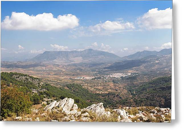 Malaga Greeting Cards - View From Puente Del Viento Greeting Card by Panoramic Images