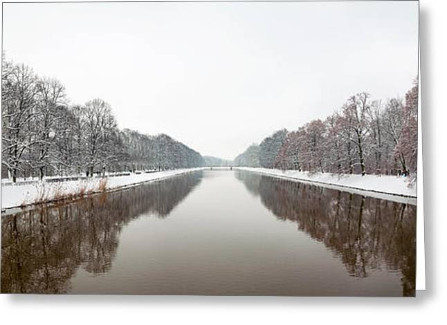 Saxony Greeting Cards - View From Sachsenbruke After Winter Greeting Card by Panoramic Images