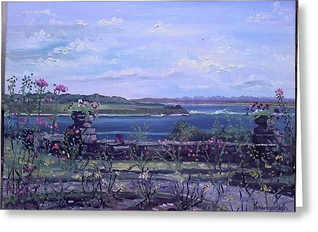 Salve Greeting Cards - View from Salve Rose Garden Greeting Card by Rosemary Kavanagh