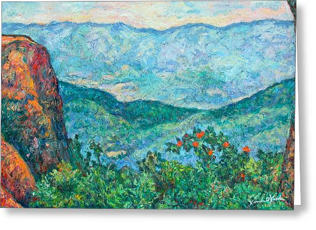 View From Sharp Top Greeting Card by Kendall Kessler