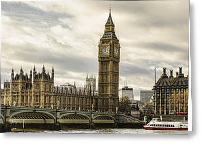 Great Architect Greeting Cards - View from Southbank Greeting Card by Heather Applegate