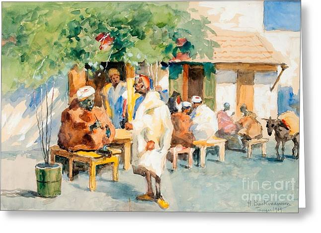 Oslo Paintings Greeting Cards - View From Tangier Greeting Card by Hugo Backmansson