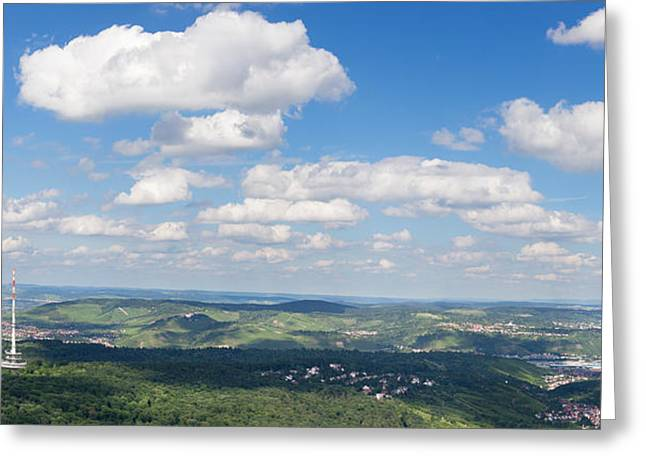 Television Tower Greeting Cards - View From Television Tower Greeting Card by Panoramic Images