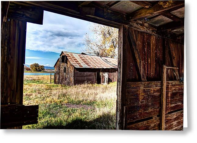 Fort Collins Photographs Greeting Cards - View From the Barn Greeting Card by Mountain Dreams