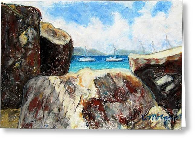 Caves Pastels Greeting Cards - View from the Baths Greeting Card by Laurie Morgan