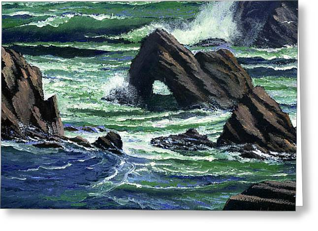 Seabirds Greeting Cards - View From The Bluffs Greeting Card by Frank Wilson
