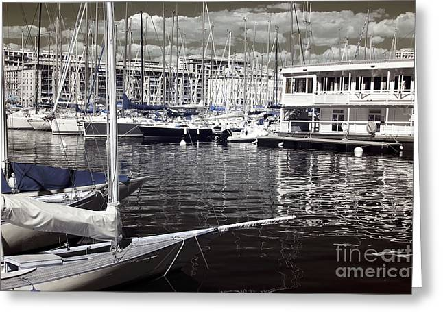 Azur Greeting Cards - View from the Bow Greeting Card by John Rizzuto