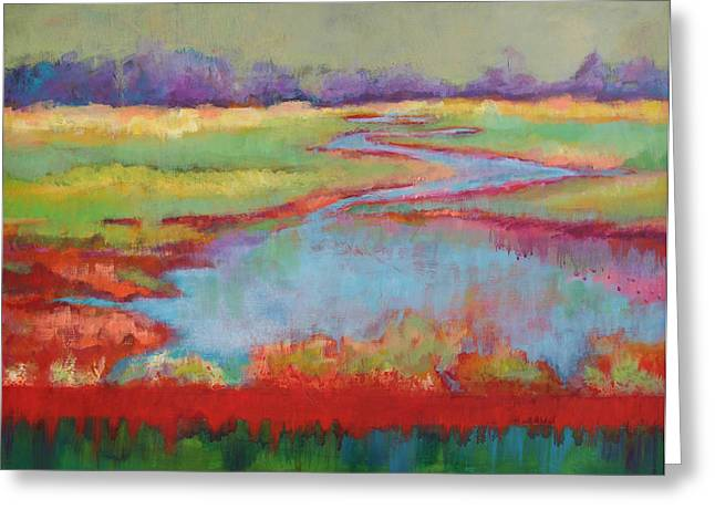 View From The Bridge Greeting Card by Carol Jo Smidt