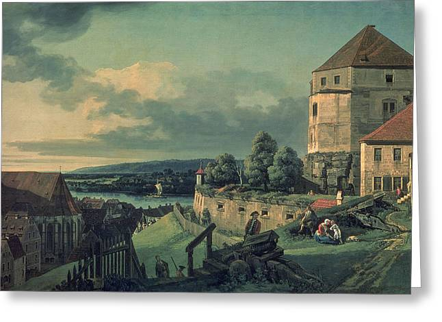 Saxony Greeting Cards - View From The Castle View Of Pirna, 1753-55 Greeting Card by Bernardo Bellotto