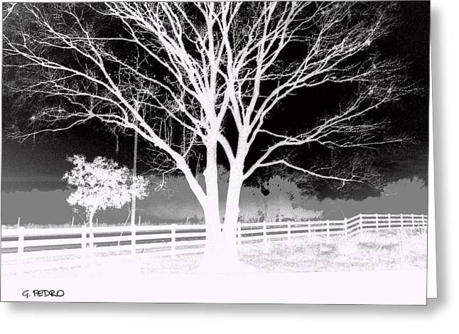 Post Impressionist Pastels Greeting Cards - View from the Farm Greeting Card by George Pedro