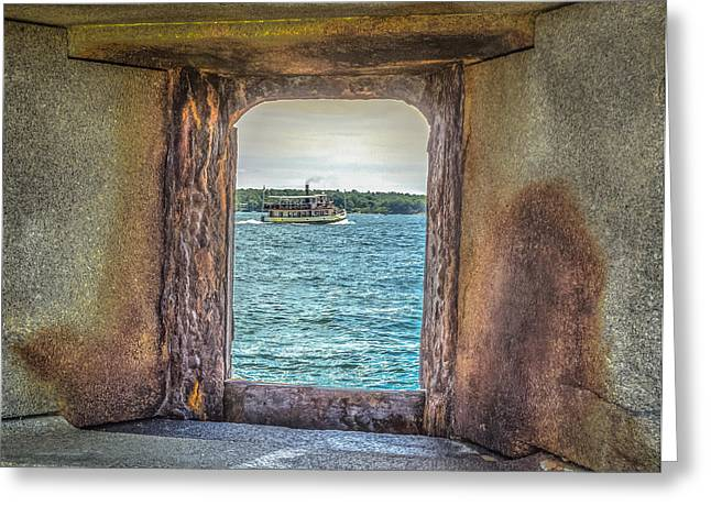 Maine Lighthouses Greeting Cards - View from the fort Greeting Card by Jane Luxton