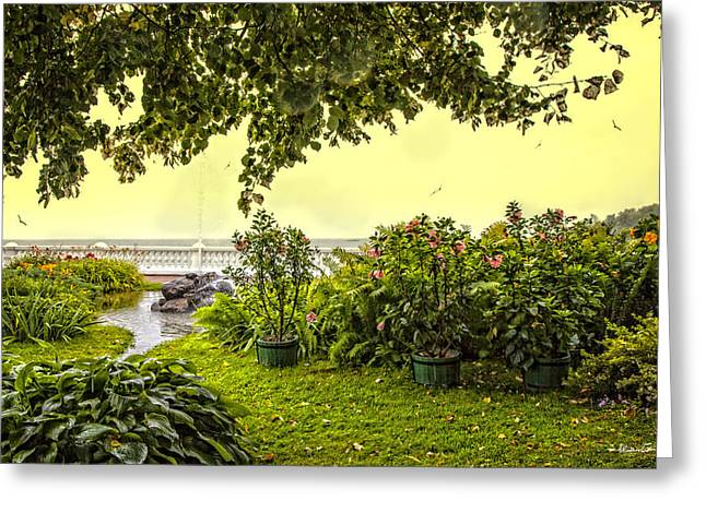 View From The Garden - Bay Of Finland - Russia Greeting Card by Madeline Ellis