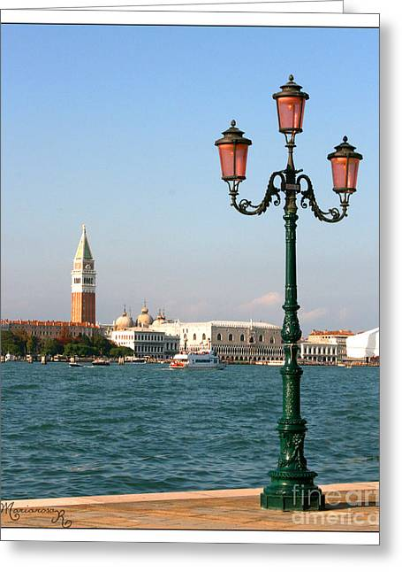 Campanile Di San Marco Greeting Cards - View from the Giudecca Greeting Card by Mariarosa Rockefeller