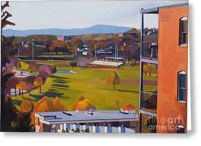 Height Paintings Greeting Cards - View From the Heights Greeting Card by Deb Putnam