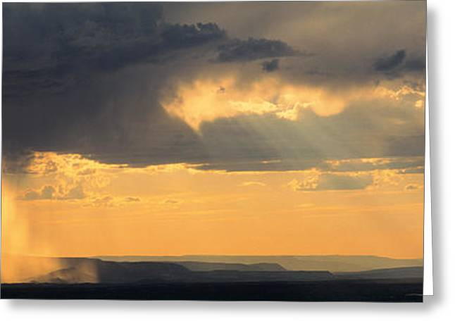 Raining Greeting Cards - View From The High Road To Taos, New Greeting Card by Panoramic Images